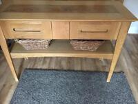 Solid Oak Hall Table/Sideboard