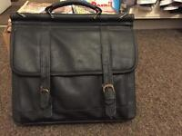 Leather Laptop carry bag