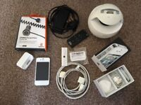 iPhone 4 8GB on giffgaff prepay, boxed, loads of accessories