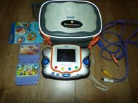 VTECH V.SMILE Pocket Consol+2 games cartriges+carry case/bag bundle VGC