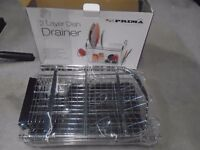 New 2 layer Dish Drainer still in box