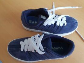 K Swiss boys canvas shoes. Size 13