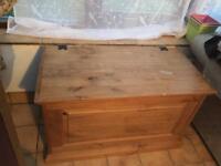 Wooden toy chest blanket box