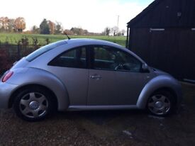 Reliable 2002 beetle. 4 new tyres. No mot