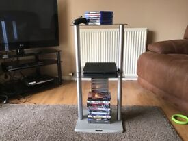 3 tier glass shelf hi-fi unit