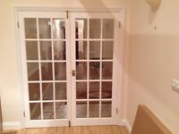 Internal White Glazed French Doors (pair)