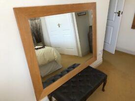 Solid oak framed mirror