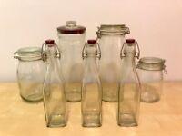 Kilner jars and bottles