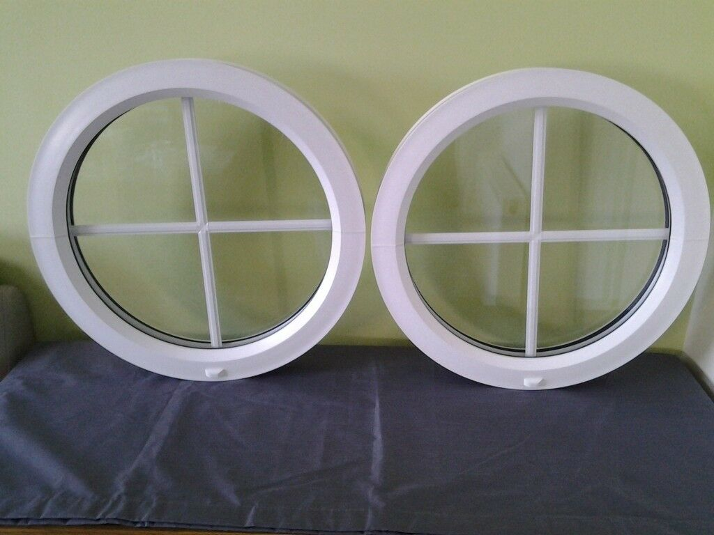 online retailer bfc9c 03bf7 2 round double glazed pvc windows with Georgia bars | in Spalding,  Lincolnshire | Gumtree