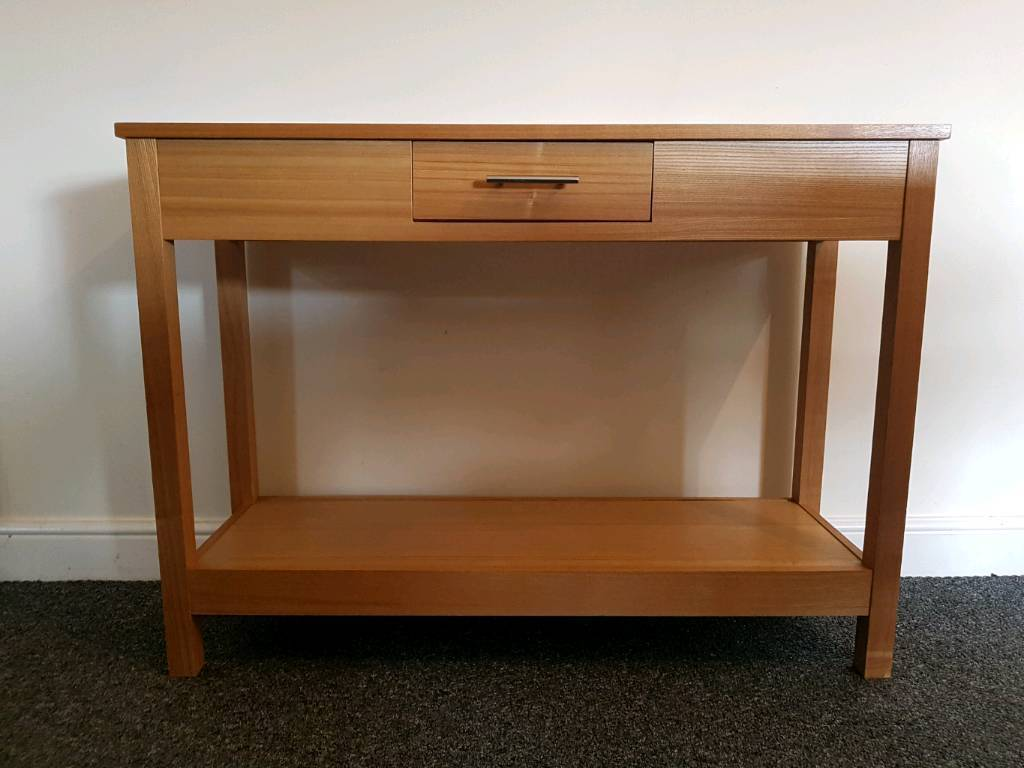 Oak veneer console table from next in wavertree merseyside oak veneer console table from next geotapseo Choice Image
