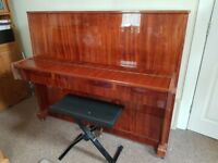 Upright piano - great for beginners - with piano stool