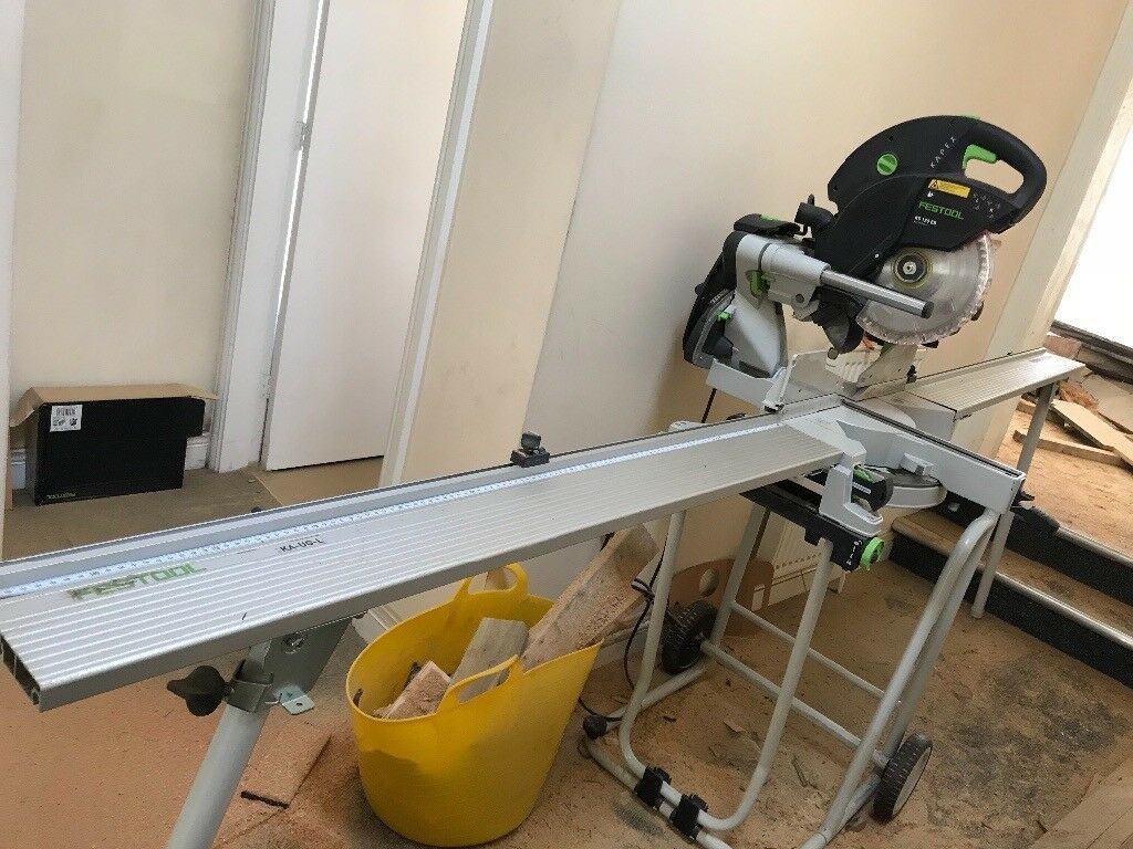festool kapex 120 twin laser with ug wheeled stand and extension arms in driffield east. Black Bedroom Furniture Sets. Home Design Ideas