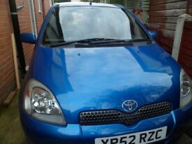 2002 TOYOTA YARIS / CLIO CAR FOR SALE LOW MILES LONG MOT