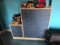 Bedroom furniture set for sale wardrobe chest of drawers desk