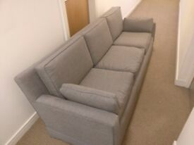 Very nice and comfortable Three-seat Vintage Sofa in colour gray