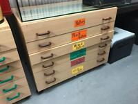 3x 6 drawer Art Paper Cabinet (*price for all 3)