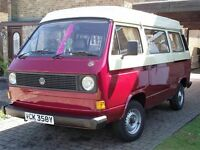 VW T25/3 ORIGINAL DEVON CAMPERVAN AIR COOLED COMPLETE SET UP poss part ex or swap