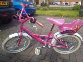 14 inch girls' bicycle in good condition.
