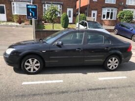 Ford mondeo; 1 year MOT; 2004; 136,240 miles on clock; air-con; Sony stereo/cd player