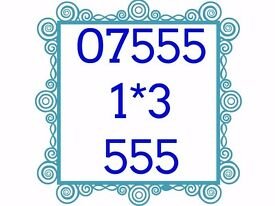 Mobile Sim Card Brand New Unused Gold Easy Memorable Number - 07555 1*3 555 - £50