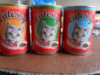 CAT FOOD 3 AND HALF TRAYS (42 tins)