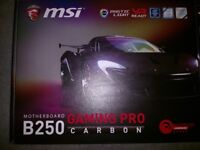 (New but Missing pin!) MSI B250 Gaming Pro Carbon Motherboard/ Intel :1151 Ddr4