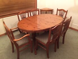 table and 6 chair set for conservatory or sunroom in burnside