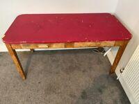 Vintage Formica Desk 152cm x 76cm x 76cm
