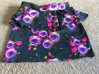 TopShop Skirt - Floral and Skull Pattern
