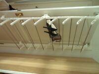 Shoe rack over the door