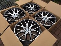 "4 x NEW 19"" BMW CSL STYLE STAGGERED ALLOY WHEELS 5x120 SERIES WIDE REAR E36 E46 E60 E90 E92 E93 1 3"