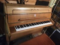Bentley Upright Piano - Light Oak Finish - Bluesy Sound