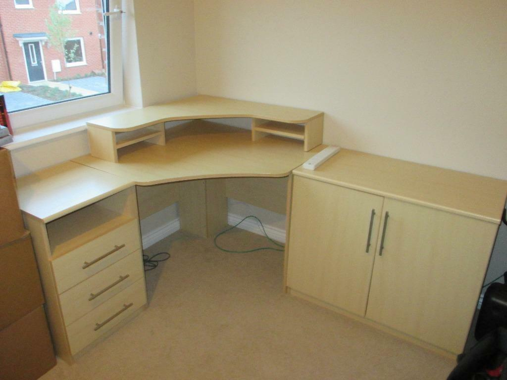 Corner Desk Drawers Amp Cabinet Beech In Southampton