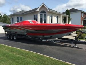 2011 Sunsation Products 36 SSR STAGGER, Baja, Fountain, speedboa