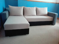 1 year old corner sofa bed settee with bed box storage in mint condition / free delivery