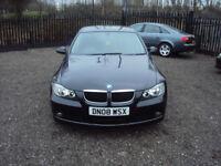 BMW 3 SERIES 318i ES 4 DR 6 SP SALOON 2008 PETROL AUX PARKSENSORSTINTED LOWMILESLONG MOT F.S.H EXTRA