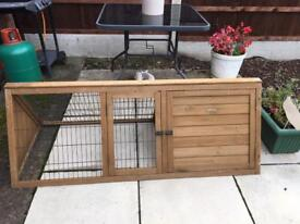 Rabbit Guinea Pig Outdoor Run Hutch Cage