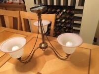 Brass light fitting - 3 shades