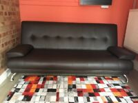 Stylish Brown Sofa (bed) + separate mattress