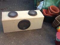 "Infinity 12"" sub bass box amp"