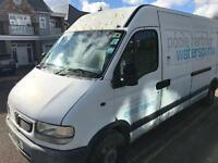 2002 Vauxhall Movano 2.5 DTI Diesel Lwb High Top Roof van