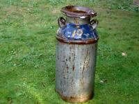 large old milk cans with lids