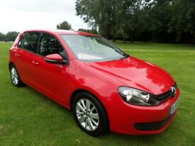 VOLKSWAGEN GOLF 1.6 SE TDI 5d 103 BHP (red) 2010