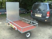 FULLY GALVANISED MOBILITY SCOOTER ETC TRANSPORTER ROAD TRAILER WITH RAMP..