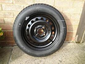 New unused wheel and Dunlop tyre for Nissan Micra or similar Reduced price