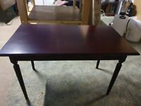 Coffee table - Mahogany effect and very solid - brand new -still in the box