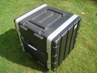 """19"""" Rack ABS Flight Case 10U On Wheels Unused"""