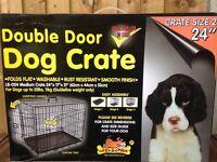 Unused medium dog crate
