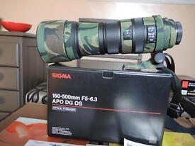 SIGMA APO DG OS TELE ZOOM 150-500MM F5-6,3 - FOR PENTAX