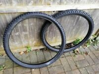 used MTB bike tyres